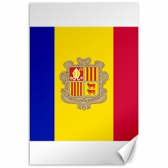 National Flag Of Andorra  Canvas 24  X 36