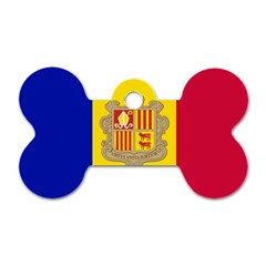 National Flag Of Andorra  Dog Tag Bone (one Side)