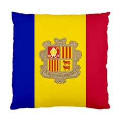 National Flag Of Andorra  Standard Cushion Case (two Sides)