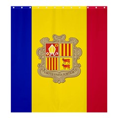 National Flag Of Andorra  Shower Curtain 66  X 72  (large)