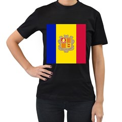 National Flag Of Andorra  Women s T Shirt (black)