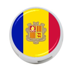National Flag Of Andorra  4 Port Usb Hub (one Side)