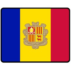 National Flag Of Andorra  Fleece Blanket (medium)