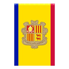 National Flag Of Andorra  Shower Curtain 48  X 72  (small)