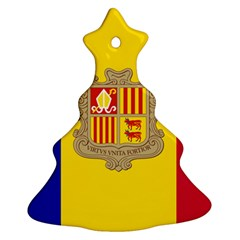 National Flag Of Andorra  Christmas Tree Ornament (two Sides)