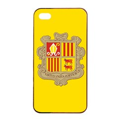 National Flag Of Andorra  Apple Iphone 4/4s Seamless Case (black)