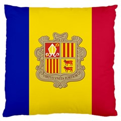 National Flag Of Andorra  Large Cushion Case (two Sides)