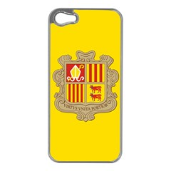 National Flag Of Andorra  Apple Iphone 5 Case (silver)