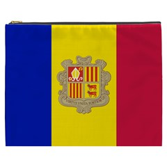 National Flag Of Andorra  Cosmetic Bag (xxxl)