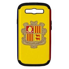 National Flag Of Andorra  Samsung Galaxy S Iii Hardshell Case (pc+silicone)
