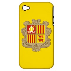 National Flag Of Andorra  Apple Iphone 4/4s Hardshell Case (pc+silicone)