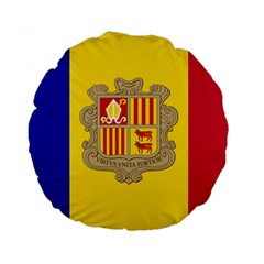 National Flag Of Andorra  Standard 15  Premium Round Cushions