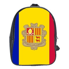 National Flag Of Andorra  School Bag (xl)