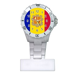 National Flag Of Andorra  Plastic Nurses Watch