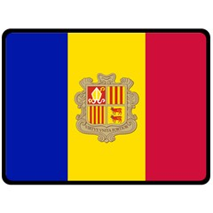 National Flag Of Andorra  Double Sided Fleece Blanket (large)