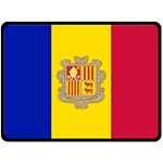 National Flag of Andorra  Double Sided Fleece Blanket (Large)  80 x60 Blanket Front