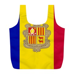 National Flag Of Andorra  Full Print Recycle Bags (l)