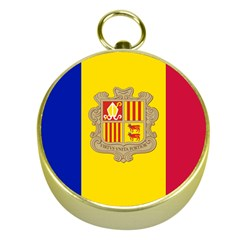 National Flag Of Andorra  Gold Compasses
