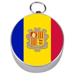 National Flag Of Andorra  Silver Compasses