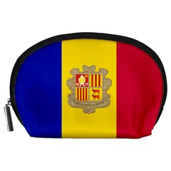 National Flag Of Andorra  Accessory Pouches (large)