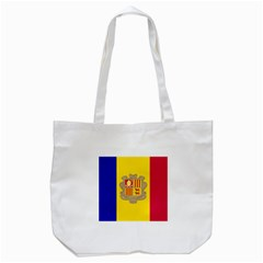 National Flag Of Andorra  Tote Bag (white)