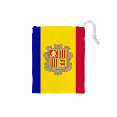 National Flag Of Andorra  Drawstring Pouches (small)