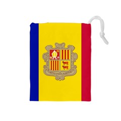 National Flag Of Andorra  Drawstring Pouches (medium)