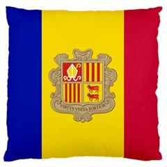 National Flag Of Andorra  Large Flano Cushion Case (two Sides)