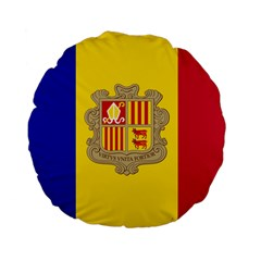 National Flag Of Andorra  Standard 15  Premium Flano Round Cushions