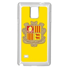 National Flag Of Andorra  Samsung Galaxy Note 4 Case (white)