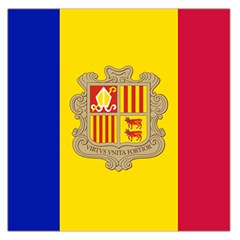 National Flag Of Andorra  Large Satin Scarf (square)
