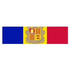 National Flag Of Andorra  Satin Scarf (oblong)