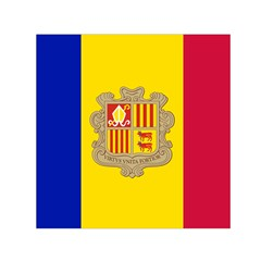 National Flag Of Andorra  Small Satin Scarf (square)