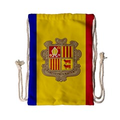 National Flag Of Andorra  Drawstring Bag (small)