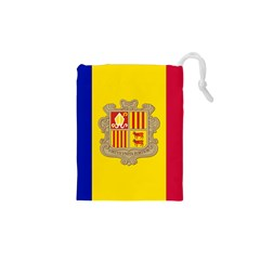 National Flag Of Andorra  Drawstring Pouches (xs)