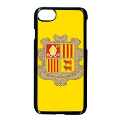 National Flag Of Andorra  Apple Iphone 7 Seamless Case (black)