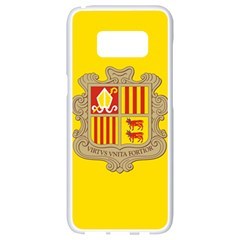 National Flag Of Andorra  Samsung Galaxy S8 White Seamless Case