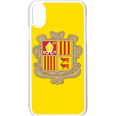 National Flag Of Andorra  Apple Iphone X Seamless Case (white)