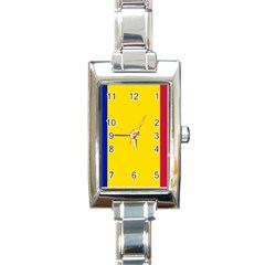 Civil Flag Of Andorra Rectangle Italian Charm Watch
