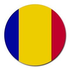 Civil Flag Of Andorra Round Mousepads