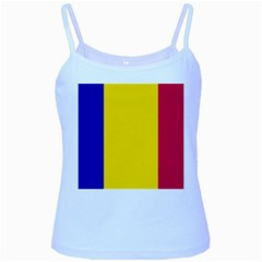 Civil Flag Of Andorra Baby Blue Spaghetti Tank