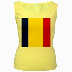 Civil Flag Of Andorra Women s Yellow Tank Top