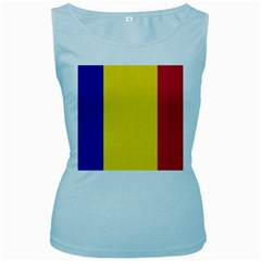 Civil Flag Of Andorra Women s Baby Blue Tank Top