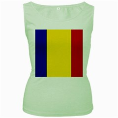 Civil Flag Of Andorra Women s Green Tank Top