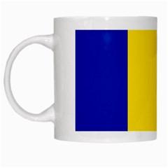 Civil Flag Of Andorra White Mugs