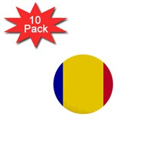 Civil Flag Of Andorra 1  Mini Buttons (10 Pack)