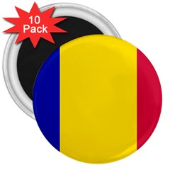 Civil Flag Of Andorra 3  Magnets (10 Pack)