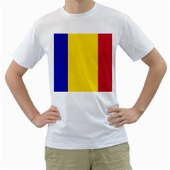 Civil Flag Of Andorra Men s T Shirt (white) (two Sided)