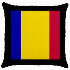 Civil Flag Of Andorra Throw Pillow Case (black)