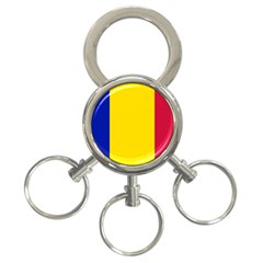 Civil Flag Of Andorra 3 Ring Key Chains